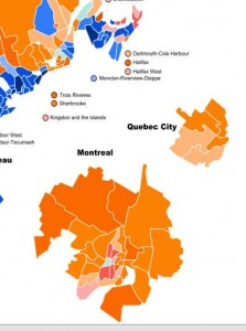 Traditional Liberal Stronghold Ridings Flipped to the NDP in the Last Federal Election.