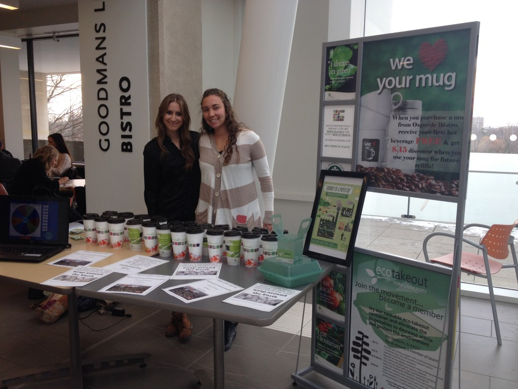 Robyn Blumberg and Darielle Teitelbaum at the Lug-A-Mug OSC Initiative.