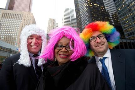 Flip Your Wig for Justice is a pledge-based fundraiser in support of access to justice programs in Ontario.