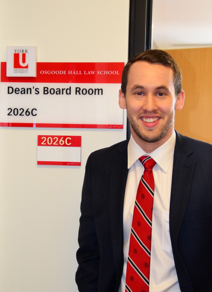 Second-year JD student Ryan Robski was chosen as this year's Dean for a Day.