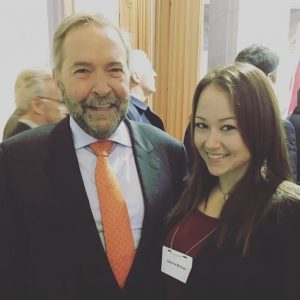 Ms. Molinari meeting parliamentarian Tom Mulcair.  Image Source: Author