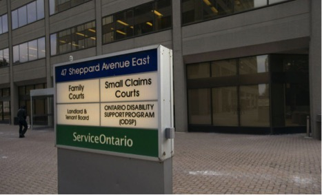 The Small Claims Court on Sheppard Ave East where Mr. Harosh successfully filed claims for loans that may be illegal.  Image Source: Chris Soh/Toronto Star